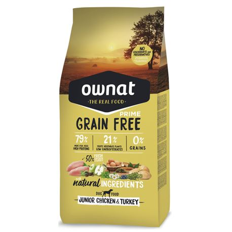 OWNAT Grain Free Prime Junior Chicken & Turckey - 3kg