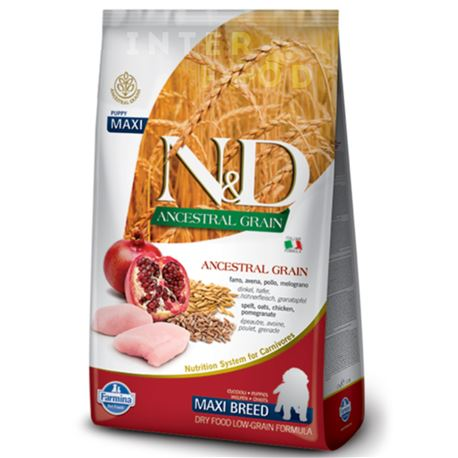 FARMINA N&D Ancestral Grain - CHICKEN & POMEGRANATE PUPPY MAXI - 2,5kg