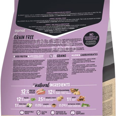OWNAT Grain Free Just STERILIZED - 3kg 2