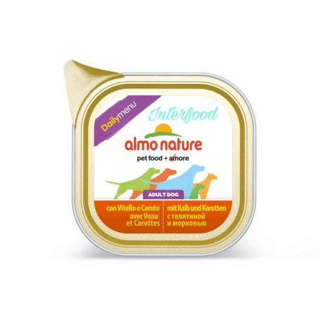 ALMO NATURE Dailymenu con Vitello e Carote 100g