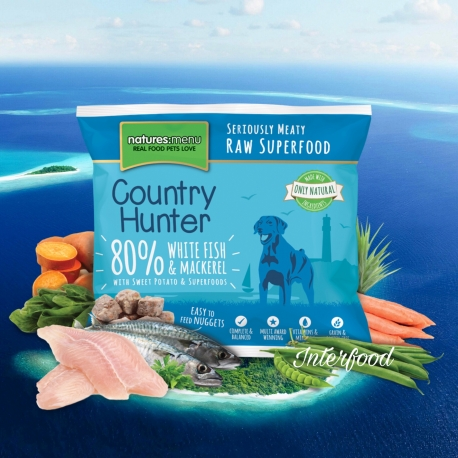 Country Hunter Raw Superfood Nuggets White Fish & Mackerel 1kg