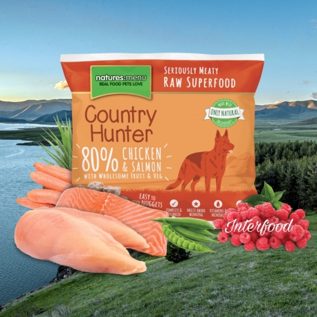 Country Hunter Raw Superfood Nuggets Chicken with Salmon 1kg