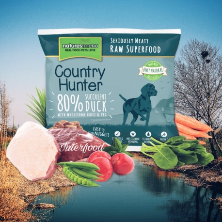 Country Hunter Raw Superfood Nuggets Succulent Duck 1kg