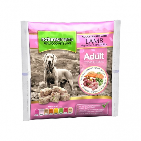 Natures Menu Original Raw Nuggets Lamb 1kg